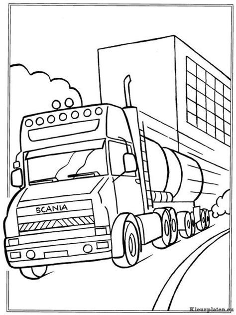 Kleurplaat Volvo Vrachtwagen by Vrachtwagens Kleurplaten Kleurplaten Eu