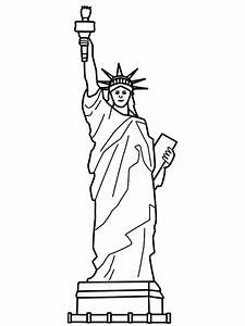 free printable statue of liberty coloring pages for kids With statue of liberty drawing template