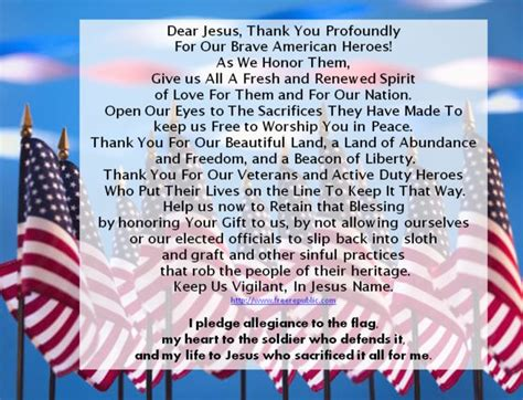 Veterans Day Poems and Prayers