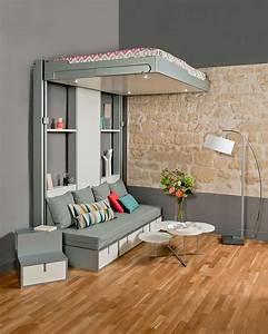 Lit Escamotable Plafond : lit escamotable plafond pas cher maison design ~ Premium-room.com Idées de Décoration