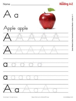 alphabet letter formation practice sheets reading
