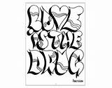 Graffiti Coloring Pages sketch template