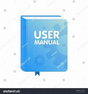 User Manual Book Icon Flat Vector Stock Vector 663650878