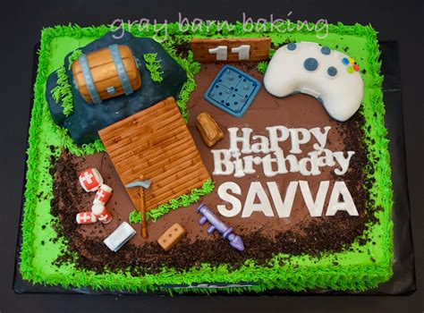 fortnite birthday cake fortnite gamer cake gray barn baking