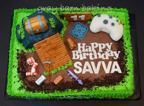 fortnite birthday cake fortnite gamer cake gray barn baking