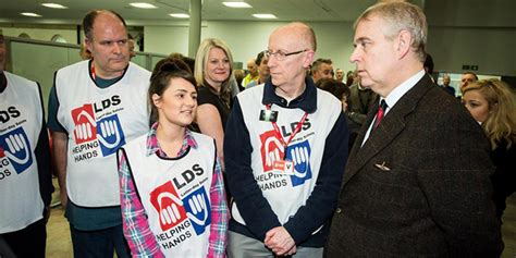 Prince Andrew, Royal Family Thank Mormon Helping Hands ...
