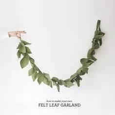 felt leaves leaf garland  felt  pinterest