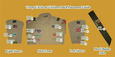 boy scout patch placement diagram patch placement nas