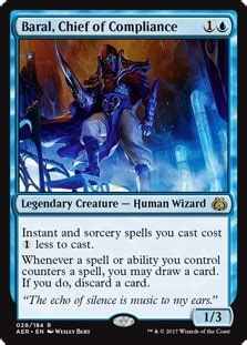 Blue Control Deck Mtg by Baral Chief Of Compliance Aether Revolt Gatherer