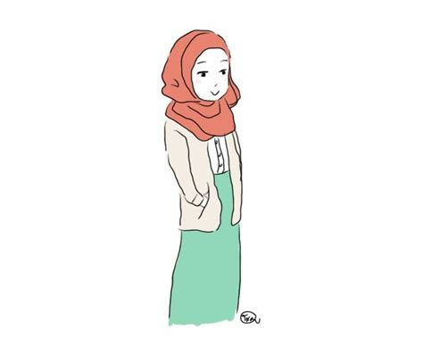 hijab drawing google search illustration cizimler ve