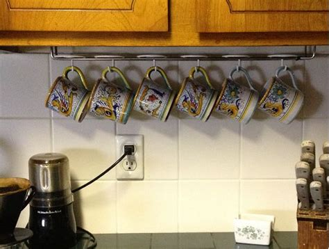 Cabinet Mug Rack by 1000 Images About Coffee Mug Storage On Hooks