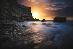 Nature, Landscape, Sunset, Rocks, Water, Wallpapers, Hd, Desktop, And, Mobile, Backgrounds