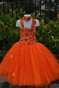 orange dress special occasion dress orange flower girl With fall wedding flower girl dresses