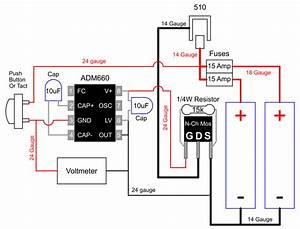 Mosfet And Charge Pump  Doubles Voltage To Gate  Drawing