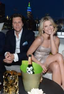 wedding flutes ali larter shimmers in chagne frock to enjoy an evening out with husband macarthur at