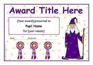 Free Certificate Templates In Word Editable Wizard Themed Certificate Templates Sb9598
