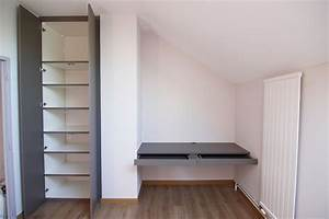 Faire Un Placard Sur Mesure : placard et bureau sur mesure chamb ry ~ Premium-room.com Idées de Décoration
