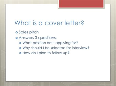 Cover Letter Presentation Exle by Cover Letter Powerpoint Presentation