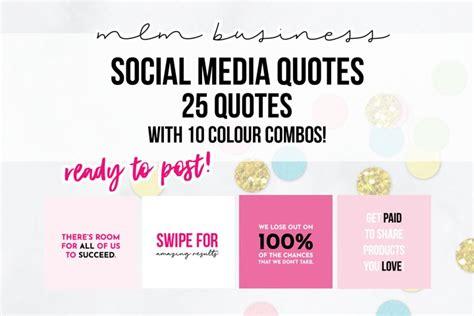 pink mlm social media quotes  web elements design bundles