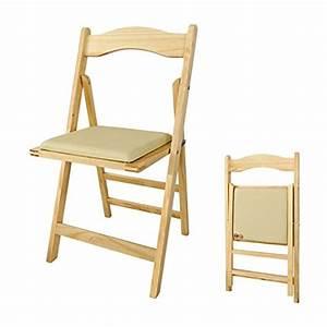 Sobuy fst06 n chaise pliante avec assise rembourree for Deco cuisine avec chaise en bois
