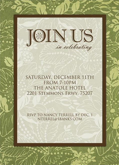 join  formal invitation holiday greeting cards
