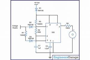 Power Failure Alarm Using Diode And Astable Mode Of 555 Timer