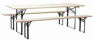 Table De Jardin Bois Et Metal : ensemble brasserie table et bancs en m tal et bois ~ Teatrodelosmanantiales.com Idées de Décoration