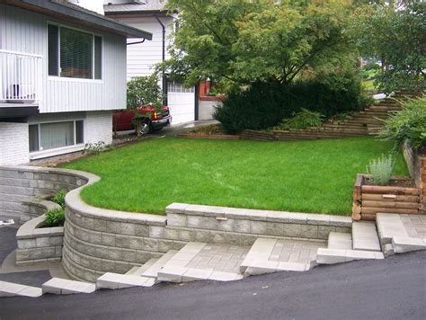 wall landscape design landscaping ideas for retaining walls
