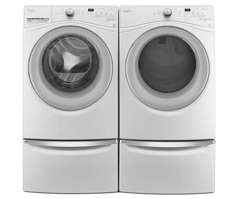 whirlpool paquete de lavadora y secadora con capacidad de 17 kg y acceso frontal blanco