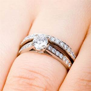 engagement wedding ring set wedding rings pictures With how to wear engagement ring and wedding ring