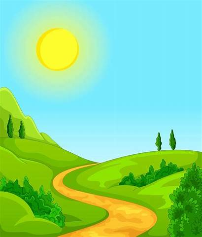 Scenery Clipart Road Clip Background Dirt Cartoon