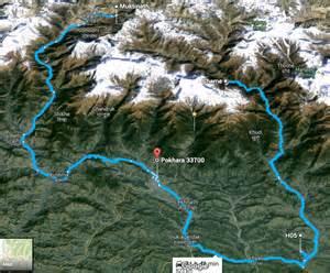 Annapurna Circuit Map