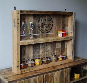 étagère En Palette : etag re epices tag re a pices en bois tag re ~ Dallasstarsshop.com Idées de Décoration