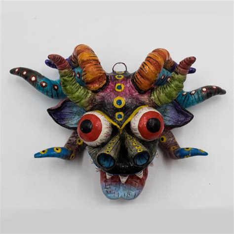 Browse through our best wall art display advice to find the ideas and inspiration you need to take your space from bland to beautiful. Wall Art La Diablada (The Devils Party) Masks set x 4 pieces - Kukumari