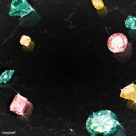 Download premium vector of Colorful crystal gem design ...