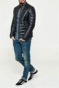 Doudoune En Cuir Homme : doudoune en cuir redskins hendrix noir homme sojeans le meilleur de l 39 outlet mode ~ Melissatoandfro.com Idées de Décoration
