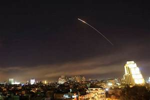 Syria: US, British and French forces launch air strikes in ...