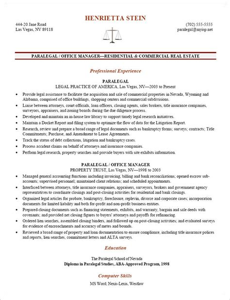 Paralegal Resume Template by Litigation Paralegal Resume Template Http Www