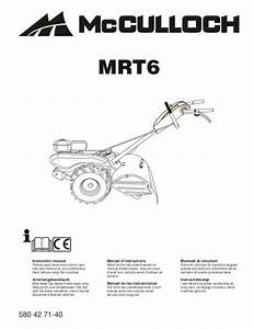 Pieces Detachees Mc Culloch : mode d 39 emploi mc culloch rotovator mrt6 motoculteur ~ Dailycaller-alerts.com Idées de Décoration