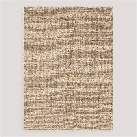 jute rug 8x10 beige deca flat woven jute rug world market