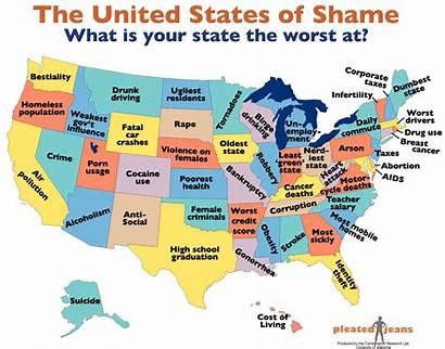 Map States United Worst Ever Usa Washington