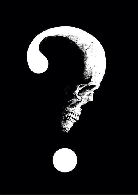 Skull question mark | Lyrics Book in 2019 | Skull tattoos, Skull art, Skull