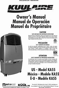 Port A Cool Ka55 Users Manual Kuulaire Packa55 Portable
