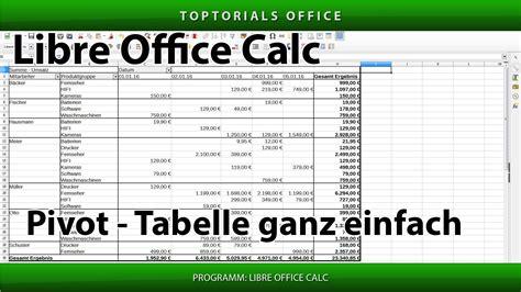 pivot tabelle ganz einfach erstellen libreoffice calc