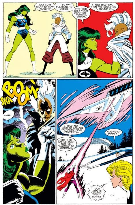 vs fantastic four storm she powers amining avengers gauntlet runs lockheed breaks franklin ff moment riding fight issue fun