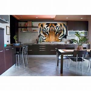 ideal decor 69 in h x 45 in w tiger wall mural dm608 With the best of home depot wall decals