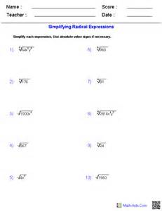 Algebra 2 Worksheets Algebra 2 Worksheets Radical Functions Worksheets