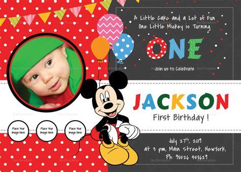 mickey mouse st birthday invitations