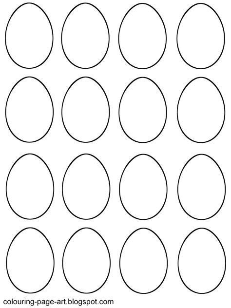 Easter Egg Template Blank Easter Egg Templates