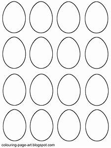 Blank easter egg templates colouring page art for Small easter egg template